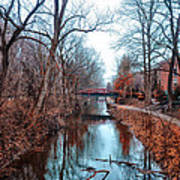 Fall Along The Delaware Canal Art Print