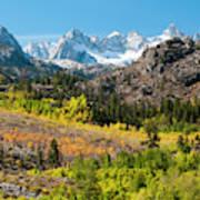 Fall Aspen Below The Sierra Crest Art Print