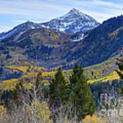 Fall At Cascade Peak And Sundance From Alpine Loop  Art Print