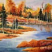 Fall At Elk Island  Art Print