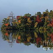 Fall At Heart Pond Art Print