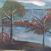 Fall At The Lake Art Print