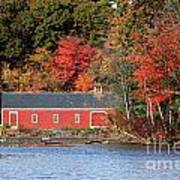 Fall At The Mill Art Print