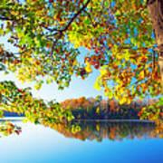 Fall By The Lake Art Print