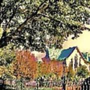 Fall Church Art Print