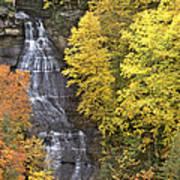 Fall Color Surrounds Chapel Falls On The Michigan Upper Peninsula Art Print