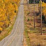 Fall Color Tour Mn Highway 1 2925 Art Print