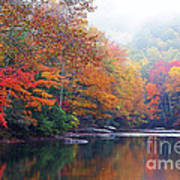 Fall Color Williams River Art Print by Thomas R Fletcher