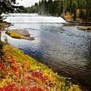 Fall Colors And Waterfalls Art Print