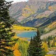 Fall Colors At Maroon Lake Art Print