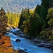 Fall Colors On The Wenatchee River Art Print