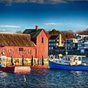 Fall Comes To Rockport Art Print