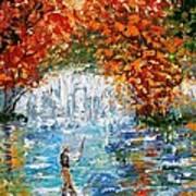 Fall Fishing Art Print