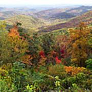 Fall Folage 3 Along The Blueridge Art Print