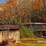 Fall Foliage At Meems Bottom Bridge Art Print