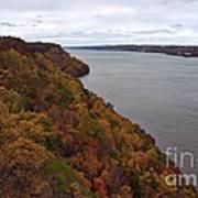 Fall Foliage On The New Jersey Palisades  Art Print