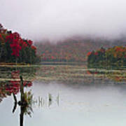 Fall Foliage Reflections In Northern Vermont Art Print