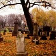 Fall Graveyard  Art Print