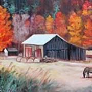 Fall Grazer Art Print