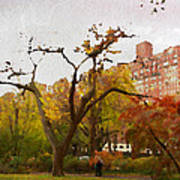 Fall In Central Park Art Print