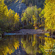 Autumn Reflections In Fort Mcmurray Art Print