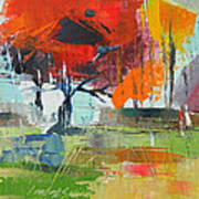 Fall In Sharonwood Park 2 Art Print