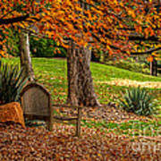 Fall In The Gardens Art Print