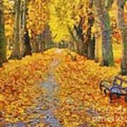 Fall In The Park Art Print