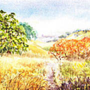 Fall Landscape Briones Park California Art Print