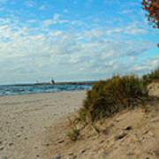 Fall On The Beach Art Print