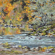 Fall on the River Art Print
