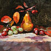 Fall Pear Art Print by Ellen Howell