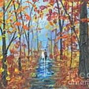 Fall Promenade  Art Print