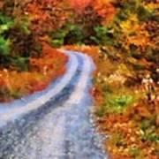 Fall Road To Paradise Art Print
