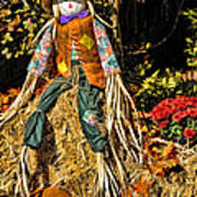 Fall Scarecrow Art Print