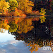 Fall Scene Art Print by Olivier Le Queinec