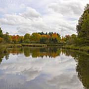 Fall Season By The Pond Art Print