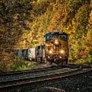 Fall Train Art Print