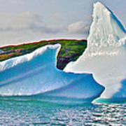 Fallen Clouds Iceberg Closeup In Saint Anthony Bay-newfoundland-canada  Art Print