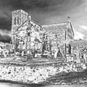 Fallen Night At Dunlop Kirk Art Print
