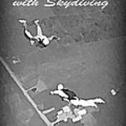 Falling In Love With Skydiving Art Print