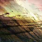 Falling Sky Siesta Key Art Print