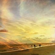 Falling Sky Siesta Key II Art Print by Alison Maddex