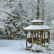 Falling Snow - Winter Landscape Art Print