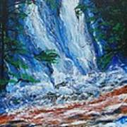Waterfall In The Forest Art Print