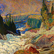 Falls - Montreal River Art Print
