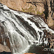 Falls On The Gibbon River In Yellowstone National Park Art Print