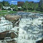 Falls River Park Art Print
