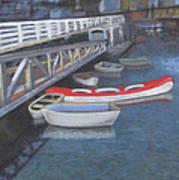 False Creek Ferry Landing Art Print by Brenda Salamone