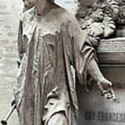 Famiglia Cavaliere Del Francesco Canti Memorial Marker Detail I  Art Print
